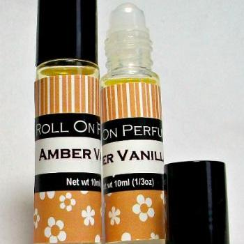 Amber Vanilla Handmade Roll-On Fragrance